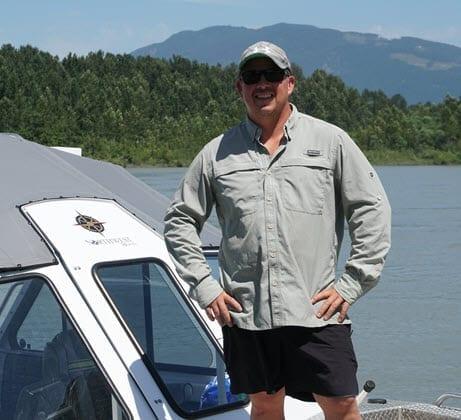 John Warning professional sturgeon fishing guide